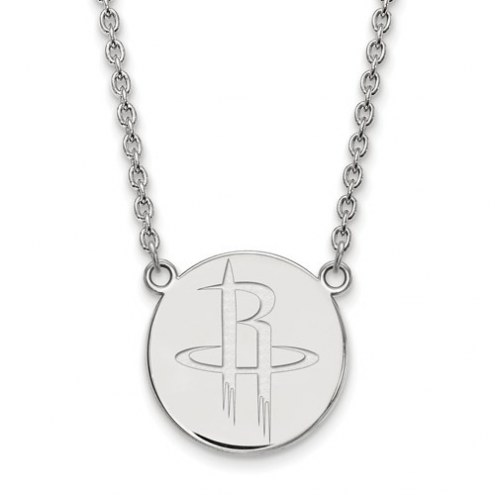 Houston Rockets Sterling Silver Large Pendant with Necklace