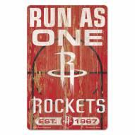 Houston Rockets Slogan Wood Sign