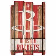 Houston Rockets Wood Fence Sign