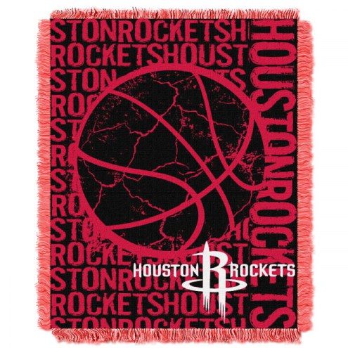 Houston Rockets Woven Jacquard Throw Blanket