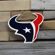 "Houston Texans 12"" Steel Logo Sign"