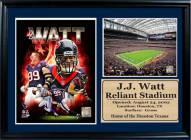 "Houston Texans 12"" x 18"" JJ Watt Photo Stat Frame"
