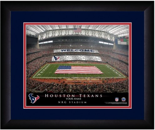 Houston Texans 13 x 16 Personalized Framed Stadium Print