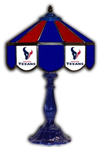 "Houston Texans 21"" Glass Table Lamp"