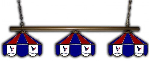 Houston Texans 3 Shade Pool Table Light