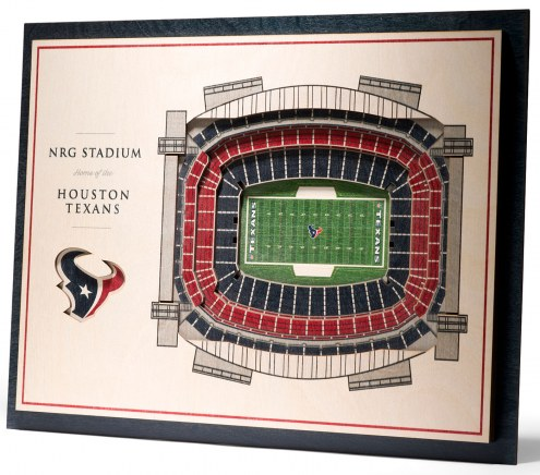 Houston Texans 5-Layer StadiumViews 3D Wall Art
