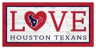 "Houston Texans 6"" x 12"" Love Sign"
