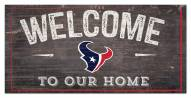 """Houston Texans 6"""" x 12"""" Welcome Sign"""