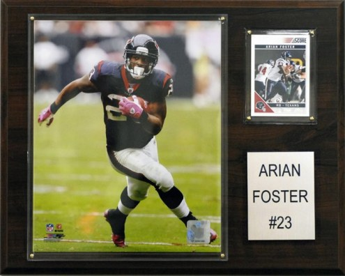 "Houston Texans Arian Foster 12 x 15"" Player Plaque"
