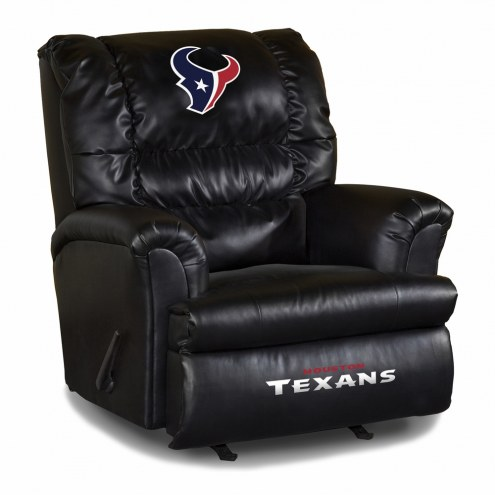 Houston Texans Big Daddy Leather Recliner
