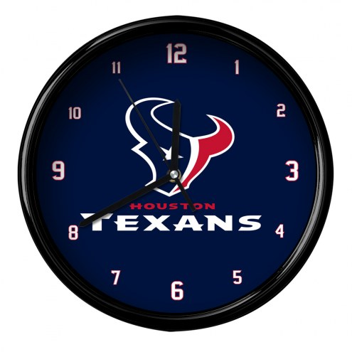 Houston Texans Black Rim Clock