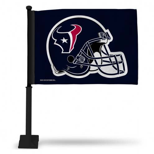 Houston Texans Blue Car Flag with Black Pole