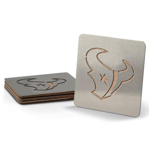 Houston Texans Boasters Stainless Steel Coasters - Set of 4