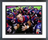 Houston Texans Brian Cushing Action Framed Photo