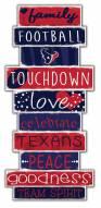 Houston Texans Celebrations Stack Sign