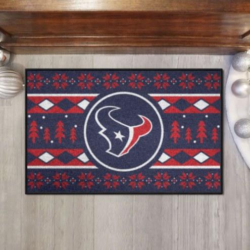 Houston Texans Christmas Sweater Starter Rug