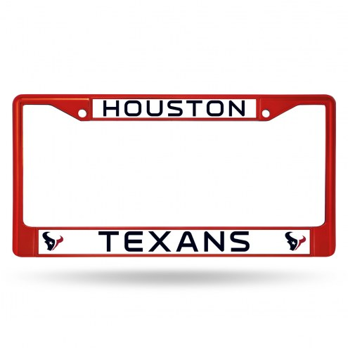 Houston Texans Color Metal License Plate Frame