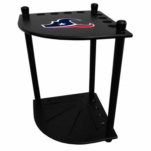 Houston Texans Corner Pool Cue Rack