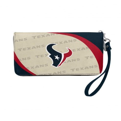 Houston Texans Curve Zip Organizer Wallet