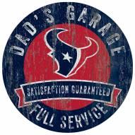 Houston Texans Dad's Garage Sign