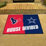 Houston Texans/Dallas Cowboys House Divided Mat
