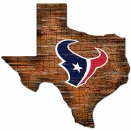 Houston Texans Distressed State with Logo Sign