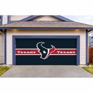 Houston Texans Double Garage Door Cover