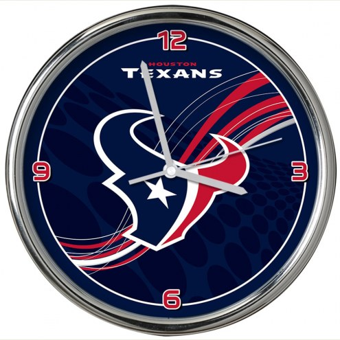 Houston Texans Dynamic Chrome Clock