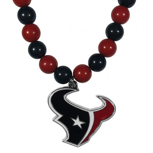 Houston Texans Fan Bead Necklace