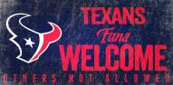 Houston Texans Fans Welcome Wood Sign