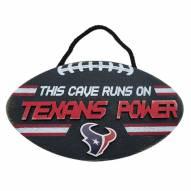 Houston Texans Football Power Wood Sign