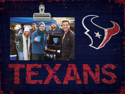 Houston Texans Wood Clip Frame