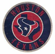 Houston Texans Round State Wood Sign