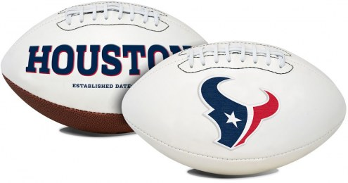 Houston Texans Full Size Embroidered Signature Series Football