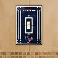 Houston Texans Glass Single Light Switch Plate Cover