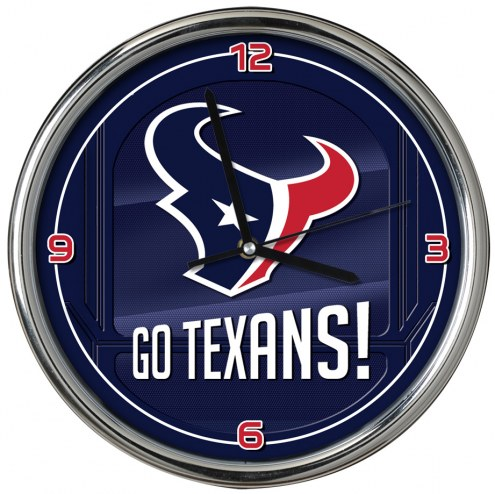 Houston Texans Go Team Chrome Clock