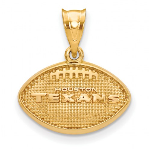 Houston Texans Gold Plated Football Pendant