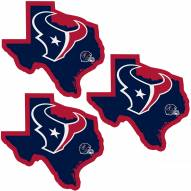 Houston Texans Home State Decal - 3 Pack