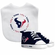 Houston Texans Infant Bib & Shoes Gift Set