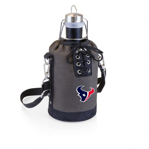 Houston Texans Insulated Growler Tote with 64 oz. Stainless Steel Growler