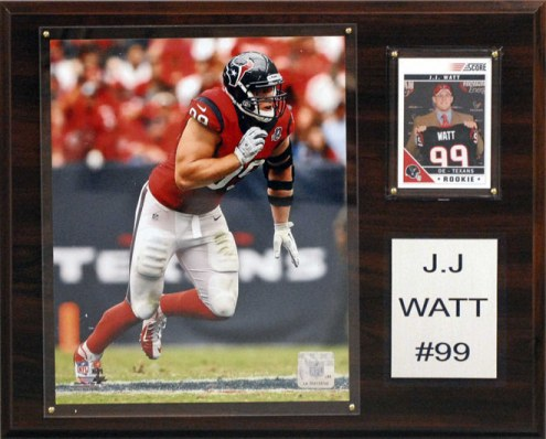 "Houston Texans JJ Watt 12 x 15"" Player Plaque"