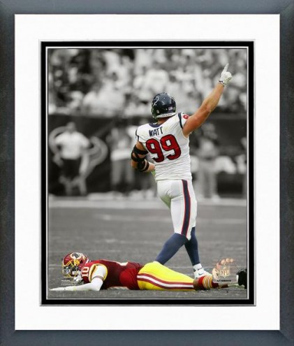 Houston Texans J.J. Watt Spotlight Action Framed Photo