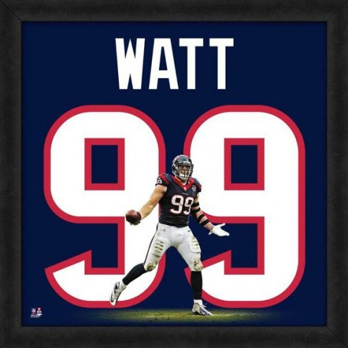 Houston Texans J.J. Watt Uniframe Framed Jersey Photo