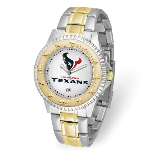 Houston Texans Competitor Two-Tone Men's Watch