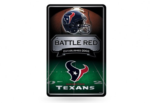 Houston Texans Large Embossed Metal Wall Sign