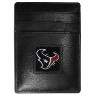 Houston Texans Leather Money Clip/Cardholder in Gift Box
