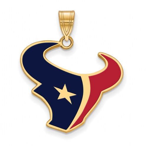 Houston Texans Sterling Silver Gold Plated Large Pendant