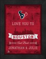 Houston Texans Love You to and Back Framed Print