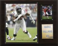 "Houston Texans Mario Williams 12 x 15"" Player Plaque"
