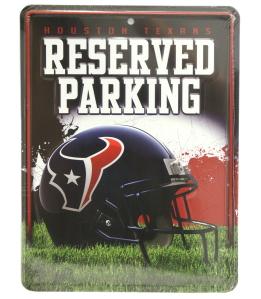 Houston Texans Metal Parking Sign